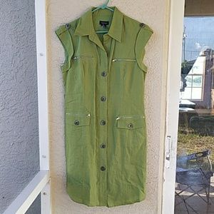 SPENSE Olive Green Sleeveless Dress Size 12